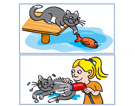 Mädchen Katze