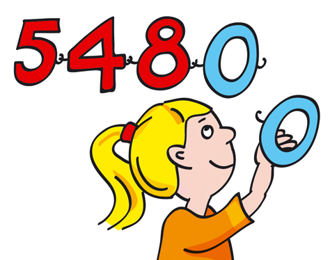 Mädchen Zahlenkette