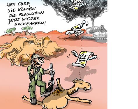 Kamele CO2 Handel Australien