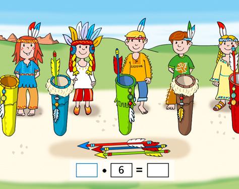 Indianer Kinder Pfeile